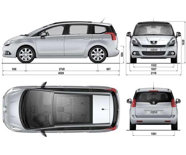 Peugeot 5008 Dimensiones