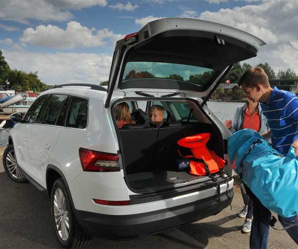 Skoda Kodiaq para 7 personas maletero